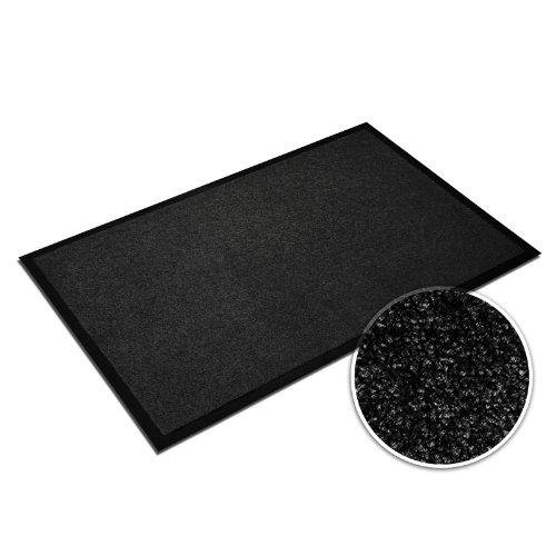 casa pura® Premium Fußmatte in attraktiver Optik | Schmutzfangmatte in 9 Größen | schwarz | 120x180cm