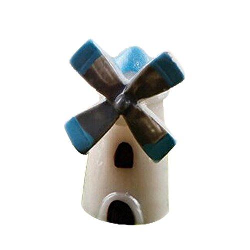 Cupcinu Mini-Windmühle House Miniatur Kirche Fairy Garden Cottage Kabine Figur Bonsai Ornaments Puppenhaus DIY Zubehör Garten Home Decor, Kunstharz, Windmühle, S