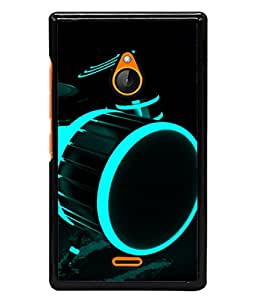 PrintVisa Designer Back Case Cover for Nokia XL (Drum with Beautiful Shine and Colours)