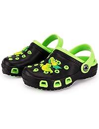 Zuecos Unisex Niños Verano Sandalias de Playa Respirable Antideslizante Piscina Jardín Zapatos Tallas 23-34 EU