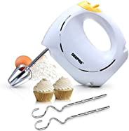 Geepas 150 Watt 7 Speed Hand Mixer - GHM43012, white, white