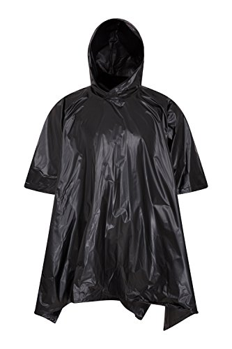 Mountain Warehouse Waterproof Poncho - Taped Seams Rain Coat, Hoodie Womens Kaftan, Lightweight, Easy To Pack, Compact Ladies Jacket -For Summer, Travelling, BBQ, Camping