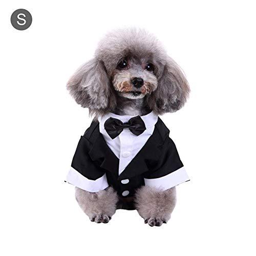 soundwinds Haustierkostüm für Hunde mit Fliege, für Hochzeiten, Hemd, Formelle Smoking mit Krawatte, Anzug für Haustiere, Party-Kostüme für Kleine, mittelgroße und große Hunde
