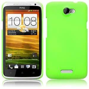 Fluro Green HTC One X Covert Branded Rubber Back Cover / Case / Shell / Skin