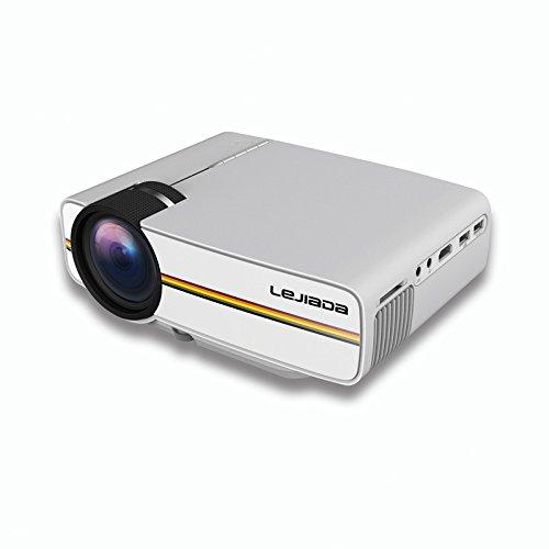 GBPHH Mini-Projektor Mini Home HD 1080P USB-Flash-Laufwerk Computerprojektor U-Platte/SD-Karte/Set-Top-Box/Computer/Handy anschließen,White - Handy-white Box