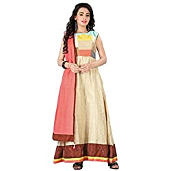 New Arrival Banglori Silk With Chanderi Cotton And Dupatta Cotton Semi-Stitched Anarkali Salwar Suit Dress By Fashion Empire