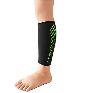 ChicSoleil Wadenbandage Wadenschutz Unterschenkelbandage Atmungsaktive Beinschützer Beinschoner Wadenschoner Bandage, 1 Stück