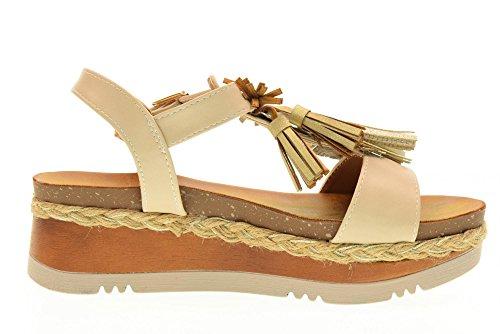 GOLD&GOLD scarpe donna sandali DS56 BEIGE Beige