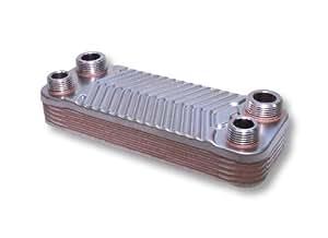 Hrale Échangeur de chaleur thermique inox 10 plaques max. 22 kW Eau Solaire