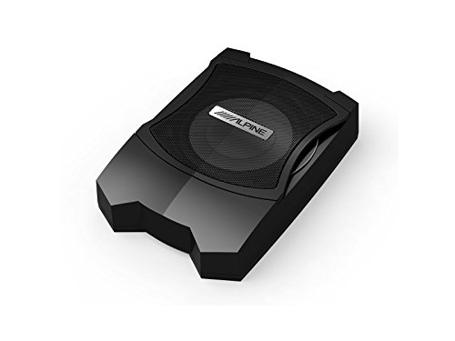 Alpine PWE-V80 Pre-Loaded Subwoofer 160 W, Tieftöner, aktiver Subwoofer, 160 W, 50-100 Hz, 160 W, mit Gehäuse (Car-audio-subwoofer Alpine)