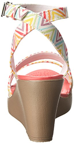 Crocs - - Leigh Wedge saffico grafica (Multi/Mushroom)