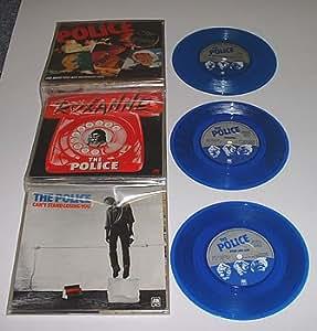 "The Police Six Pack - Blue Vinyl 1980 UK 7"" vinyl AMPP6001"