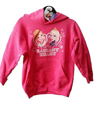 en Hoodie Hot Pink Anna & Elsa Strahlendes Herz Gr. 6 Jahre, hot pink (Disney Frozen Elsa Kind Hoodie)