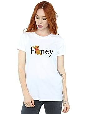 Disney Mujer Winnie The Pooh Honey Camiseta del Novio Fit
