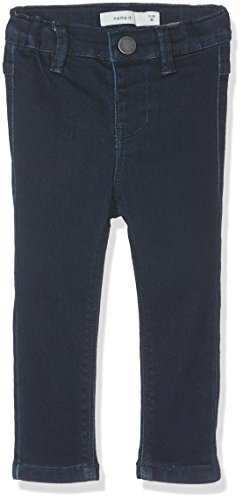 NAME IT Baby-Mädchen Hose Nittera Skinny Dnm Pant Mini Noos, Blau (Dark Blue Denim), 92