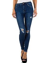 Destroyed High Waist Skinny Jeans Für Damen bei Ital-Design