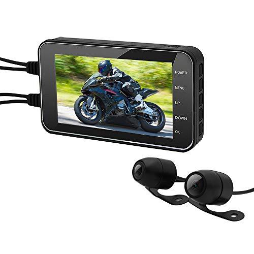 Dash Cam para Motocicleta, Cámara de Motocicleta y 4 pulgadas 1080P pantalla con WIFI G-Sensor Grabador de Motocicleta