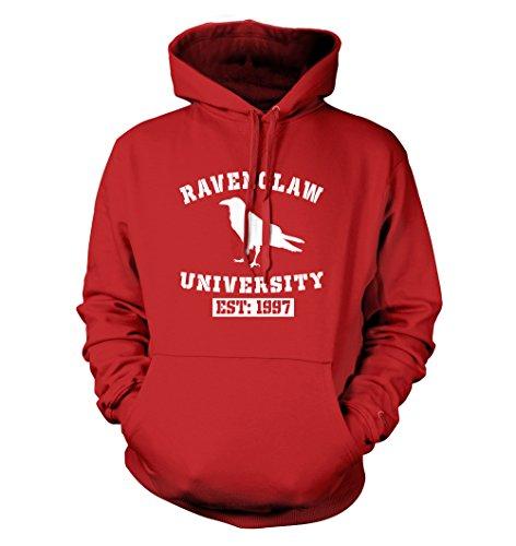 net-shirts Ravenclaw Hoodie Kapuzenpullover mit Aufdruck im College Style inspired by Harry Potter, Größe M, Rot