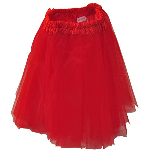 Tutu Skirt - Red Princess Girl's Pettiskirt Dress-Up Tutu Tulle Skirt / Mini Skirt For Ballet Dance Photography Prop Costume Outfit Party Dancewear~ 23cm Length ~ 23-43 Cm Waist  available at amazon for Rs.298