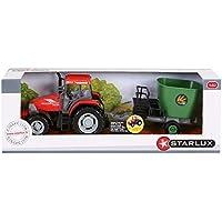 Starlux - Coffret Tracteur McCormick et Remorque Mélangeur - Gamme Ferme - 1:32e