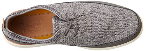 Clarks Pitman Run, Sneakers Basses Homme Gris (Grey)
