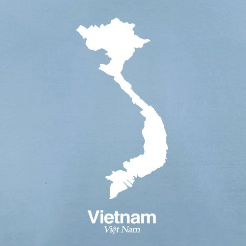 Vietnam / Sozialistische Republik Vietnam Silhouette - Damen T-Shirt - 14 Farben Himmelblau