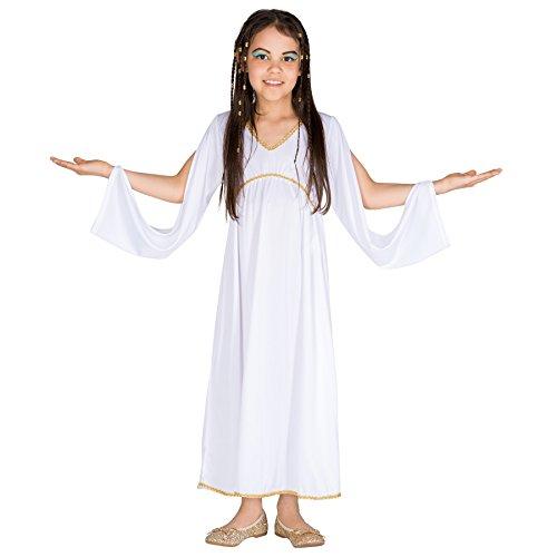 TecTake dressforfun Mädchen Kostüm griechische Prinzessin | Wundervolles und anmutiges Kleid | Goldene Bordüre am Kragen (10-12 Jahre | Nr. 300373)