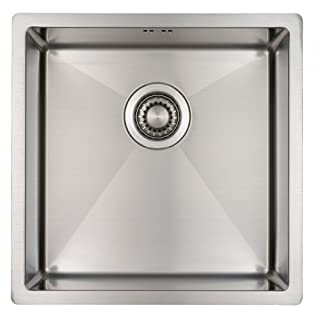 Kitchen Sink Mizzo Design - One/Single Bowl Square Stainless Steel Kitchen Sink- For both undermount and flushmount installation - Satin finish - R 10 mm