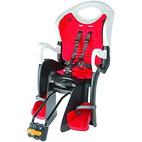 Messingschlager Reclinable BS ll - Silla infantil para bicicleta, color blanco / negro