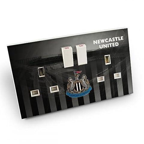 Newcastle United F.C. prise double prise pour la peau pour la peau anti-décoloration et anti-bulles aux rayures étanche-Bureau-une application facile sans trace de résidu lorsque removed- dans une Packet- Produit