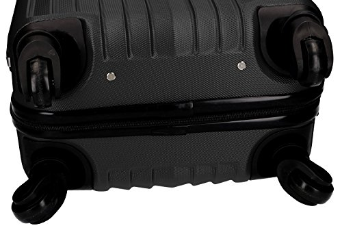41rJHoRXfSL - 3 Maletas rígidas PIERRE CARDIN negro 4 ruedas cabina para viajes VS214