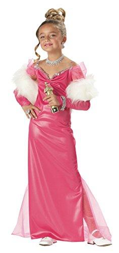 Starlet Hollywood Kostüme (Hollywood Starlet Kostüm für Mädchen 128/140 (8-10)