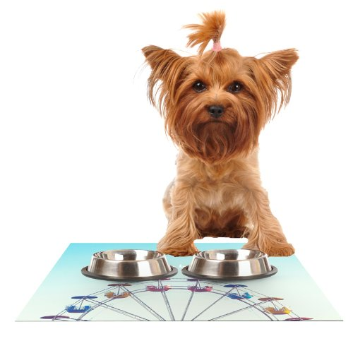 kess-inhouse-libertad-leal-dont-stop-believing-ferris-wheel-feeding-mat-for-pet-bowl-18-by-13-inch