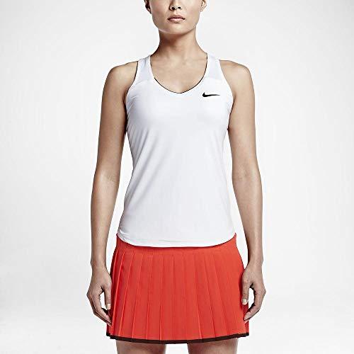 Nike Damen Court Pure Tanktop, White/Black, M