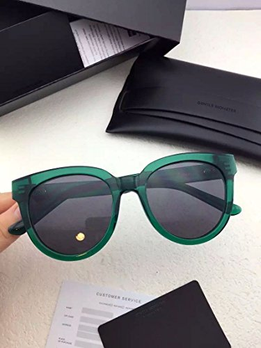 Unisex Sonnenbrille Für sanfte Monster-Sonnenbrille New Gentle man or Women Monster eyeware V brand ILLUSION GR1 sunglasses for Gentle monster sunglasses -green frame black lensess
