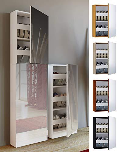 VCM Zapatero Fulas Maxi, imitación Estructura Madera, Color Blanco, Talla única