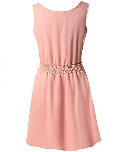 Moollyfox Plus Size Femmes En Creux Robe En Mousseline De Soie pink