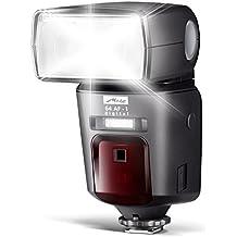 Metz mecablitz 64 AF-1 für Nikon Kameras (DSLR und CSC) | High End Blitzgerät mit TTL, Leitzahl 64, HSS (High Speed Sync), Zweitreflektor, Touch-Display etc.