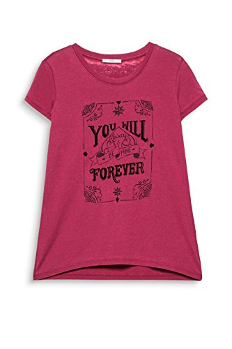 edc by ESPRIT Damen T-Shirt Rot (Plum Red 605)