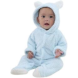 LANSKIRT _Vetement D'enfant Vetement bébé Nouveau-né Bébé Garçons Filles Manches Longues Haut à Capuche à Manches Longues pour bébé Combinaison imprimé Animal Dessin animé