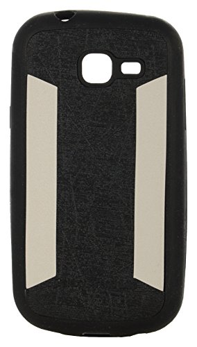 iCandy™ 2 Color Soft Lather Finish Back Cover For Samsung Galaxy Trend GT- S7392 - Black  available at amazon for Rs.115