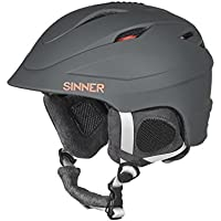 Sinner Unisex Gallix II Ski Helmet with Protection Pouch, Matte Grey, Large/60 cm