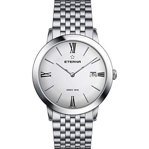 Eterna Women's Eternity 40mm Steel Bracelet & Case Quartz Silver-Tone Dial Analog Watch 2711-41-12-1745