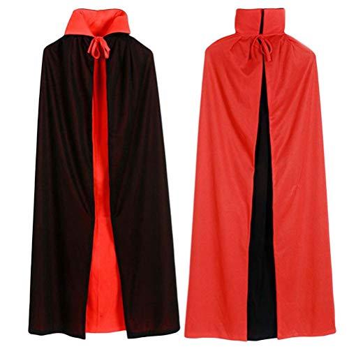 BESTOYARD Halloween Mantel Kostüm Schwarz Rot Cosplay Kostüm -