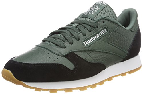 Reebok Herren Classic Leather GI Sneaker, Grün (Chalk Green/Black/White-Gum), 39 EU -