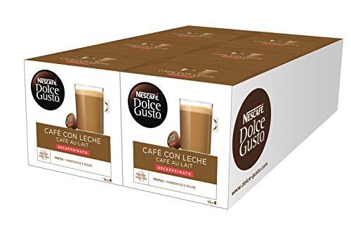 Nescafé Dolce Gusto Café con leche descafeinado - 6 packs de 16 cápsulas - Total: 96 cápsulas