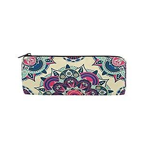 Alarge – Estuche con cremallera para lápices y bolígrafos, diseño étnico de mandala floral
