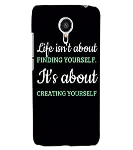 ColourCraft Quote Design Back Case Cover for MEIZU MX5