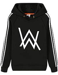 Alan Walker Sudaderas más Terciopelo Engrosada Suéter con Capucha para Mujeres y Hombres Sweater Manga Larga