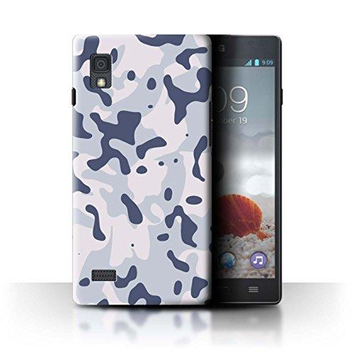 Stuff4® Hülle/Case für LG Optimus L9/P760 / Arktischer Sibirischer Schnee Muster/Militär Camouflage Tarnung Kollektion (Camo Lg Optimus L9 Case)